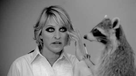 American Express and Ellen DeGeneres Win with animals ... Raccoon Eyes Makeup Crying