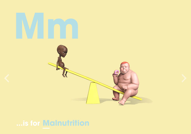 Alphabet of Illiteracy M is for Malnutrition