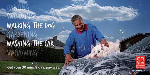 Dog and car wash together in BHF poster