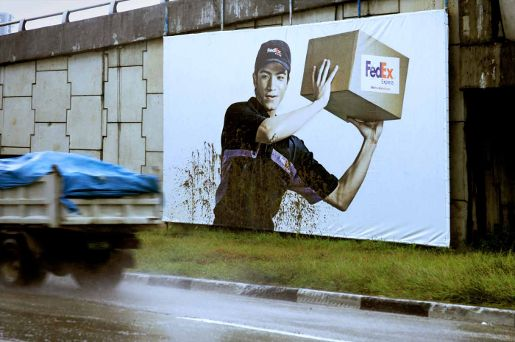 Fedex Mud Billboard in the Philippines