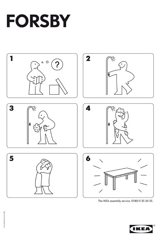 IKEA Forsby Assembly Service diagram