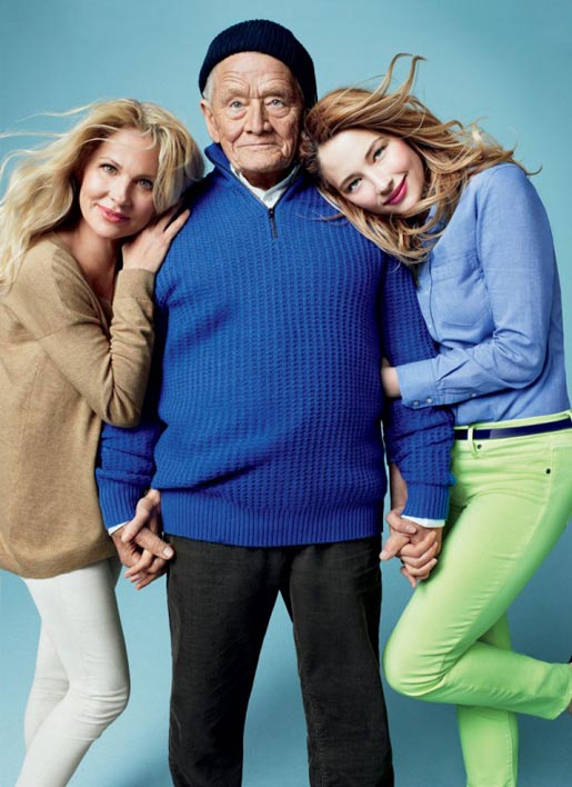Gap Love comes in Every Shade Haley Bennett with grandfather Thomas Keeling and mother Lani Bennett