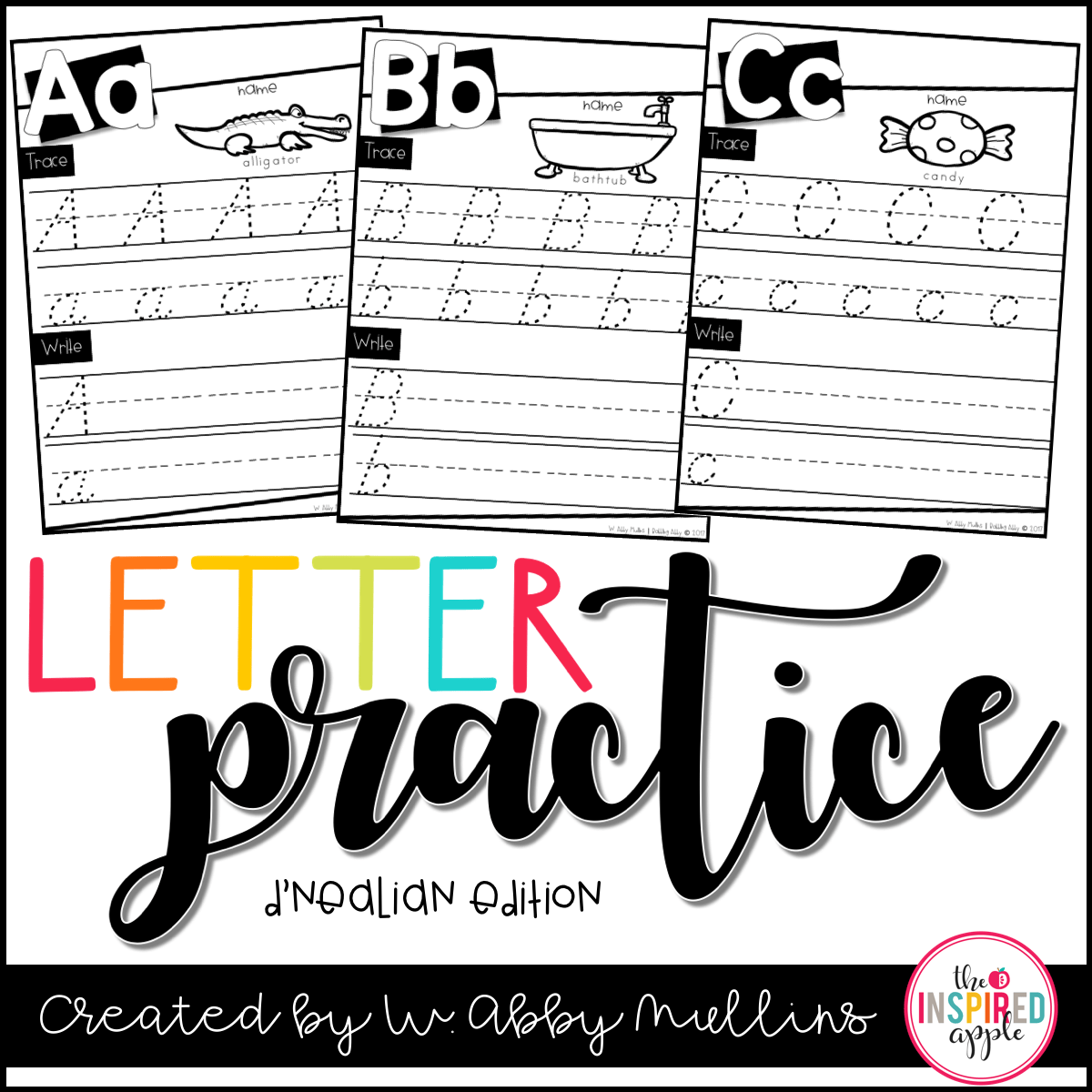 This Is A Free Set Of D Nealian Letter Practice Worksheets That Can Be Used In Preschool