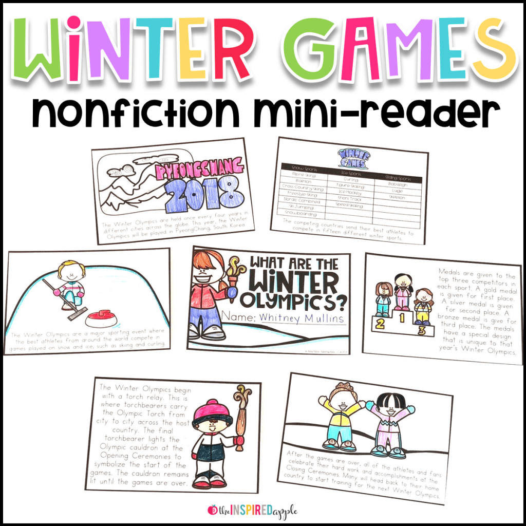 Winter Olympics Activities For Kindergarten And First