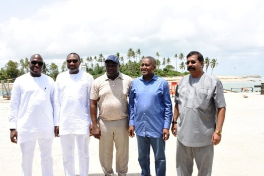 Lagos State Governor Akinwunmi Ambode and other dignitaries toured Lekki Free Trade Zone