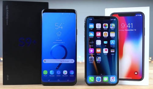 Samsung Galaxy 9+ VS iPhone X