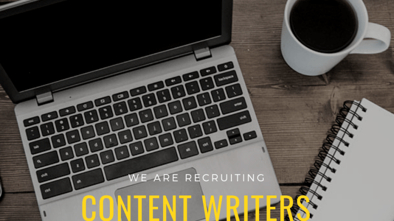 Vacancy – Content Writers