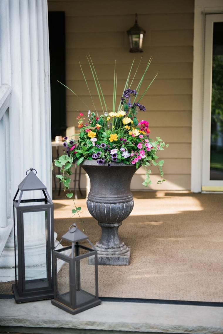 late spring container garden example by Inspired Garden Maplewood New Jersey