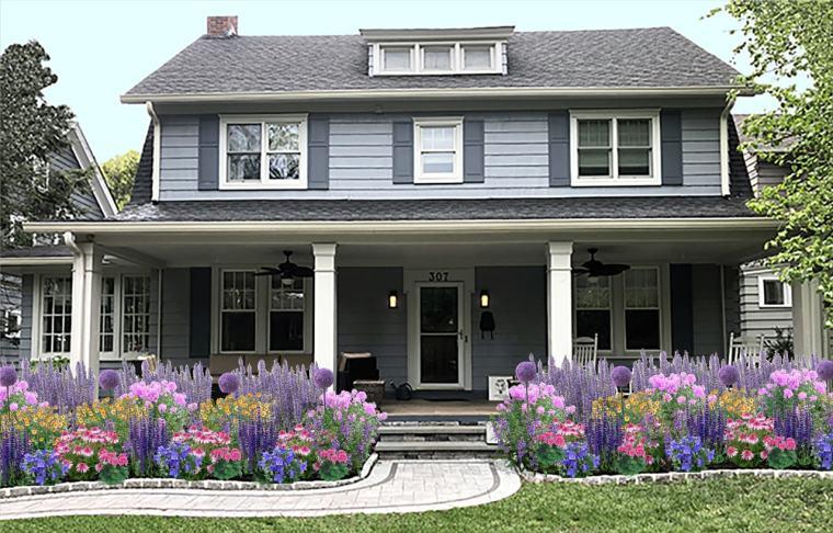 image of house after Garden Design
