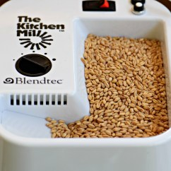 Blendtec Kitchen Mill Best Stainless Steel Sinks How To Make Your Own Flours Emily Paster The Inspired Home Flour Top