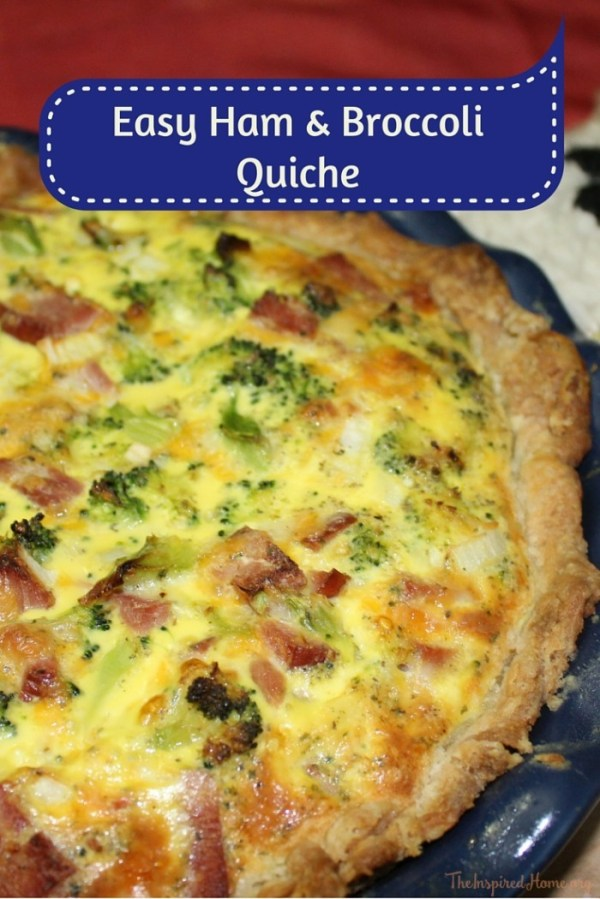 Easy Ham and Broccoli Quiche The Inspired Home