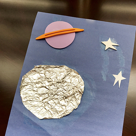 Space Crafts for Preschoolers Tin Foil Moon  Space Crafts for Preschool  DIY Crafts for Kids