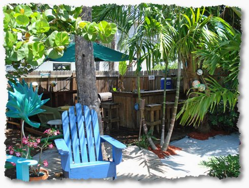 creating tropical backyard