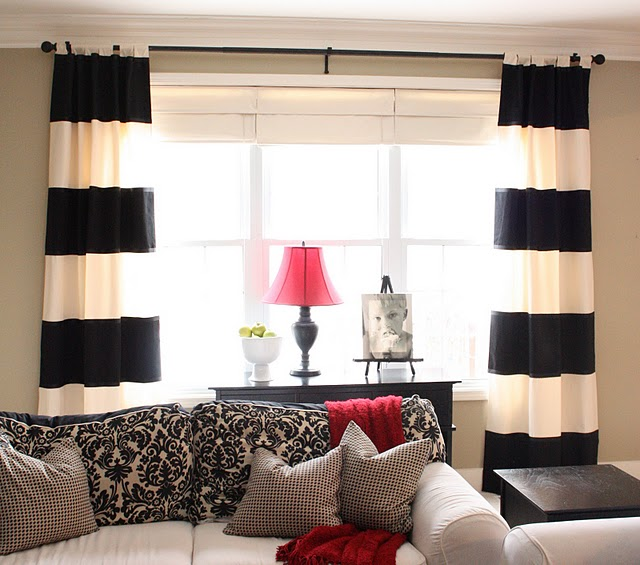 DIY Black & White Striped Curtains The Yellow Cape Cod The