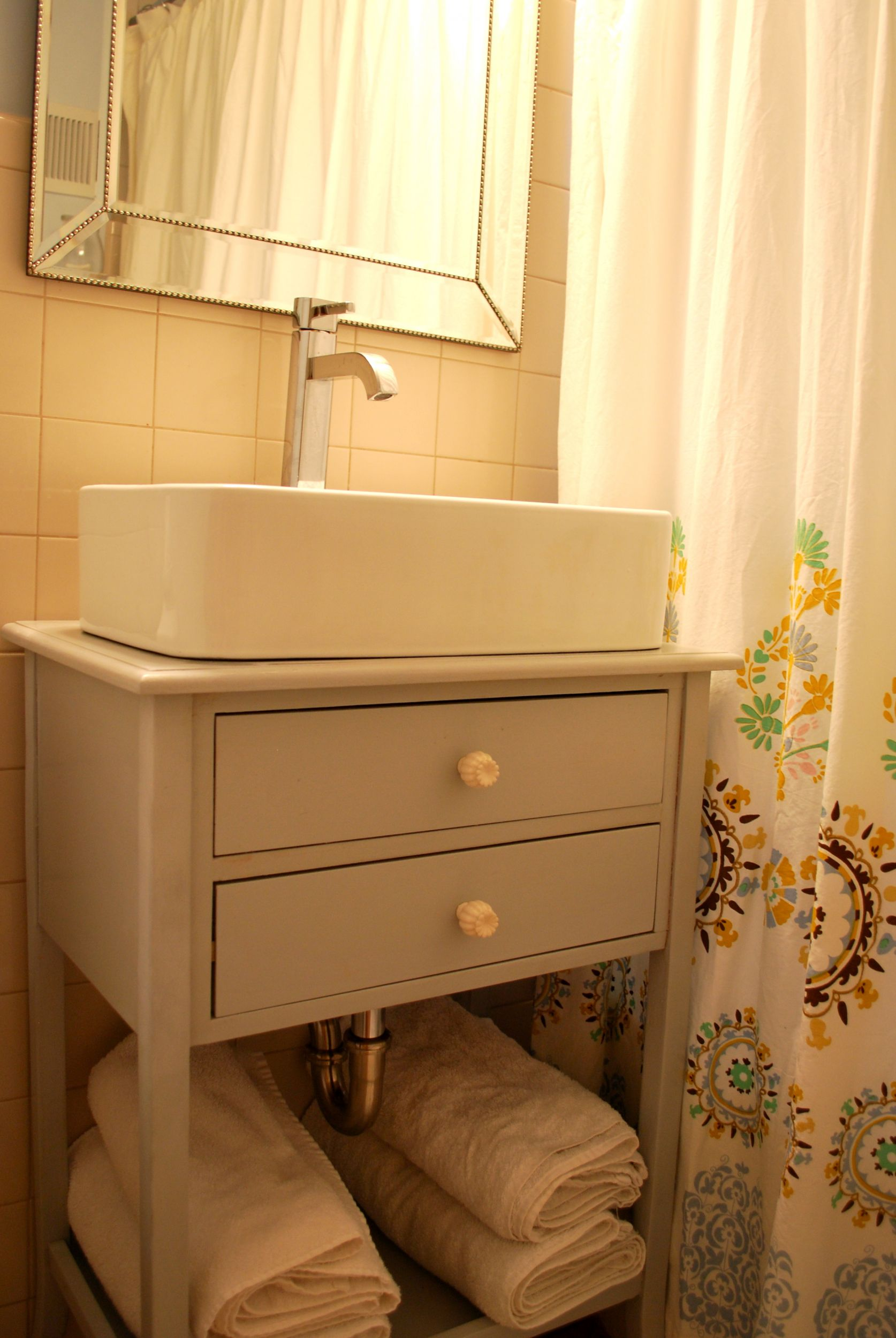 DIY Vessel Sink Cabinet {The Suburban Urbanist}
