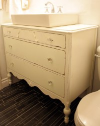 Antique Dresser Turned Vanity {Painting the Roses White ...