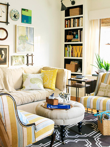 small space living room makeover Small House? Solutions for More Space {and a small space linky!} - The Inspired Room
