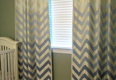 Chevron Curtains Diy