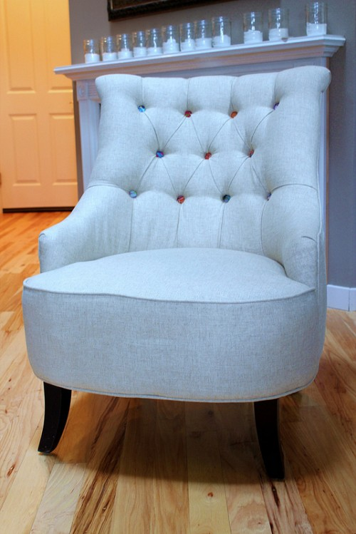 Tufted Linen Chair