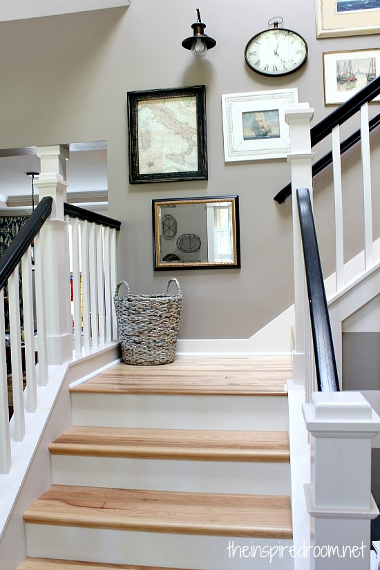 Staircase Makeover New Wood Floors Update The Inspired Room   Wood Floors And Stairs   Inside   Red Oak   Cherry Wood   Combined Wood   Rustic Wood