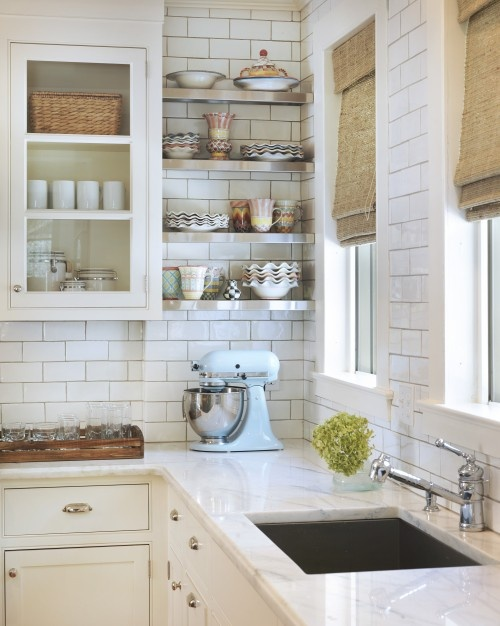 subway tiles in kitchen table colors tile tiled walls two toned cabinets