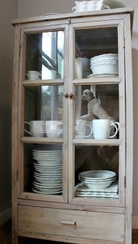 Storage for Extra Dishes {New Freestanding Glass Door ...