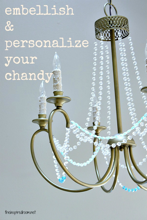 By Adding Stranded Beads You Basically Give The Chandelier A Fresh New Look Ideny And More Character
