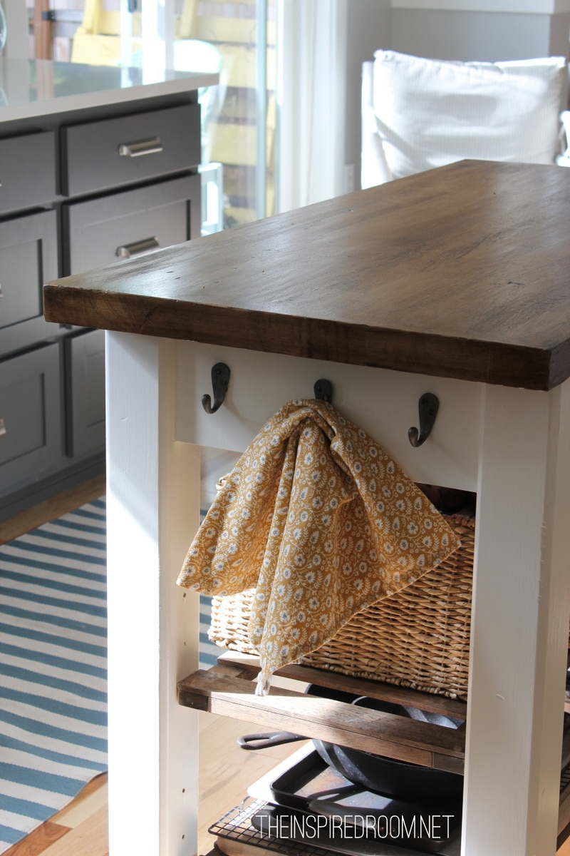 DIY Kitchen Island from new unfinished furniture to