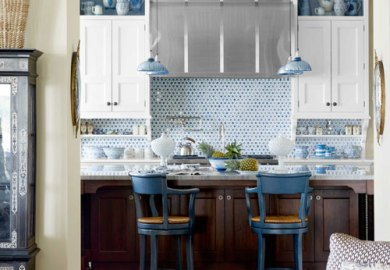 Blue Base Kitchen Cabinets