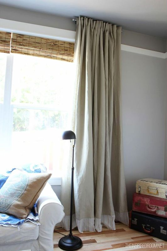 Easy DIY No Sew Embellished IKEA Curtain Panels The Inspired Room