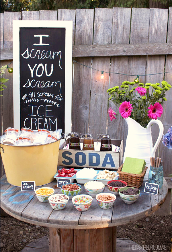 Backyard Ice Cream Party Summer Fun The Inspired Room