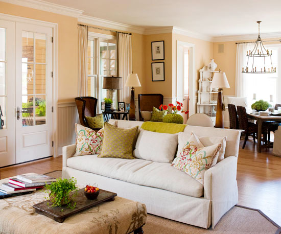 How to divide a large living room