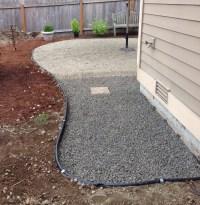 Progress on a Fall Backyard Project: The Pea Gravel Patio ...
