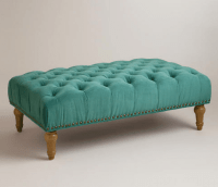 Teal Blue Ottoman - Bing images