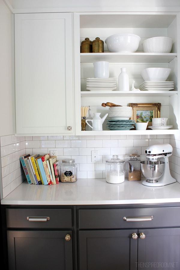 My Open Kitchen Shelves {Fall Nesting}