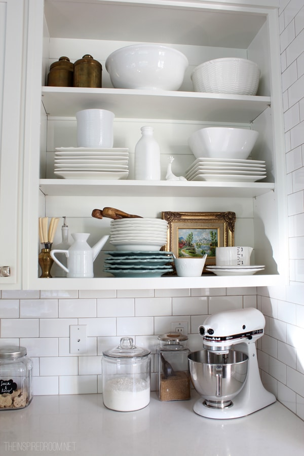 My Open Kitchen Shelves Fall Nesting  The Inspired Room
