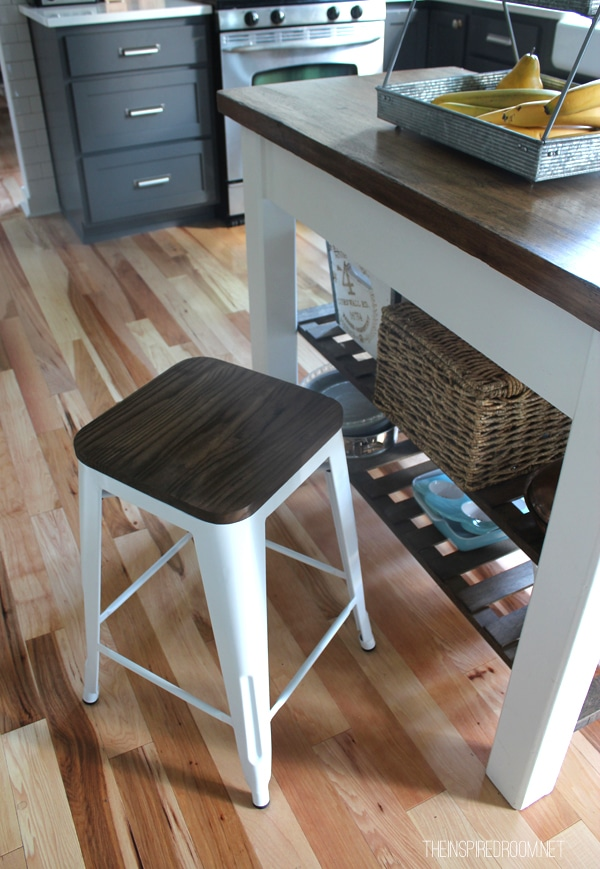 kitchen island cart target area rugs for hardwood floors new farmhouse bar stools the - inspired room