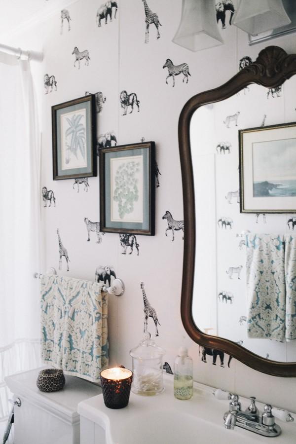 Animal Bedroom Wallpaper Wallpaper For The Powder Room The Inspired Room