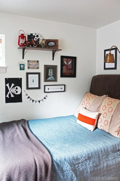 teen boys bedroom decor ideas Teen Boy's Small Bedroom {An Update} - The Inspired Room