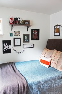 Teen Boy's Small Bedroom {An Update} - The Inspired Room