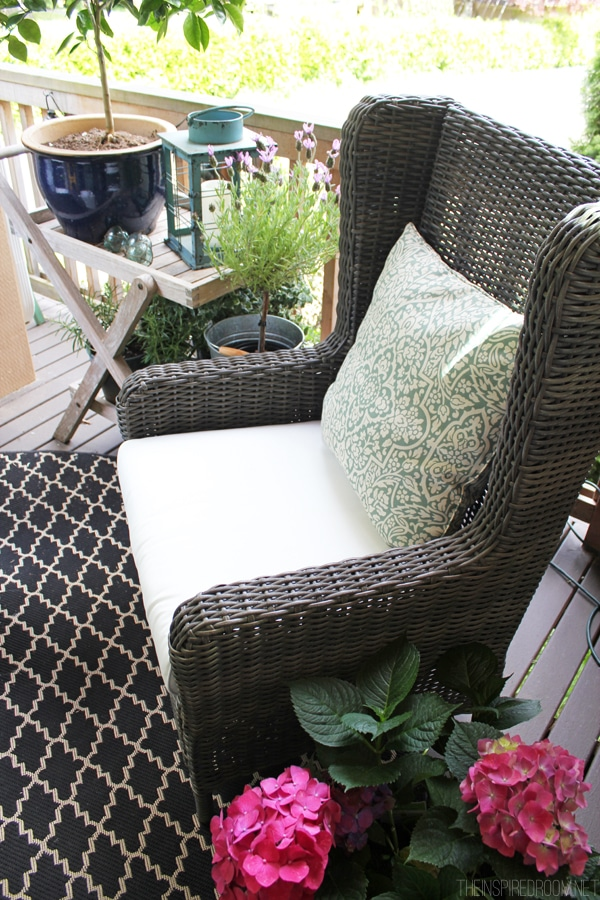 wicker wingback chairs swing chair ikea outdoor wingbacks for the front porch! - inspired room