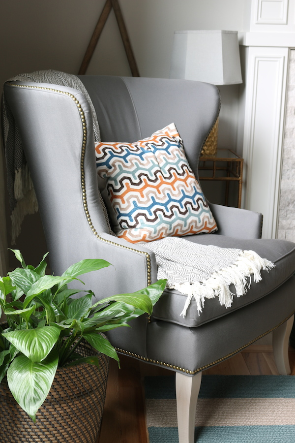 wingback chair upholstery ideas design car functional & beautiful: sunbrella fabric indoors! - the inspired room