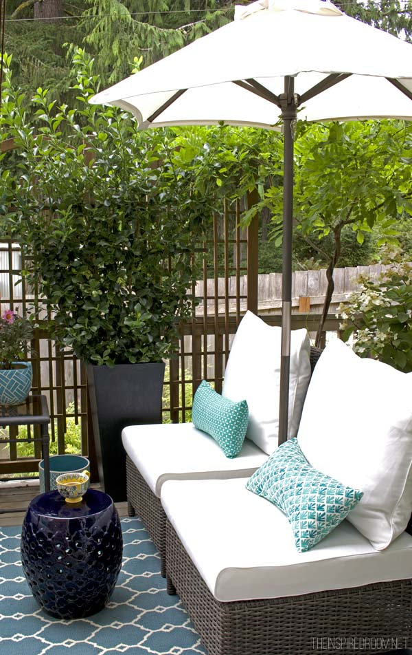 My Small Backyard Deck Makeover Before  After  The