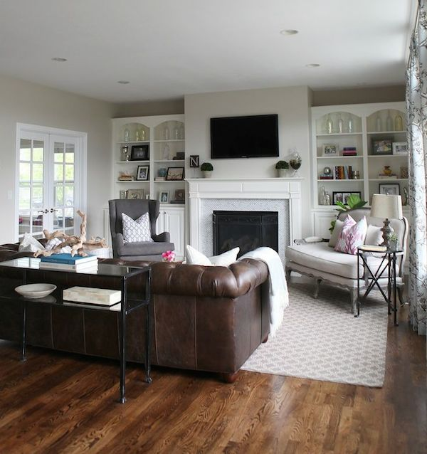 It's considered the centerpiece of a home for a reason. Decorating with Leather {The New Sofa} - The Inspired Room