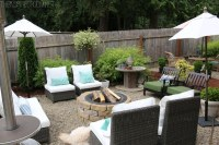 My Backyard Tour {Pea Gravel Patios, Flagstone & Secret ...