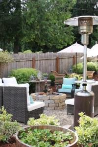 My Backyard Tour {Pea Gravel Patios, Flagstone & Secret ...