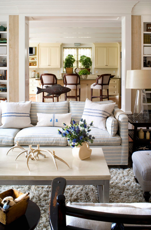 Subtle Striped Sofas  The Inspired Room