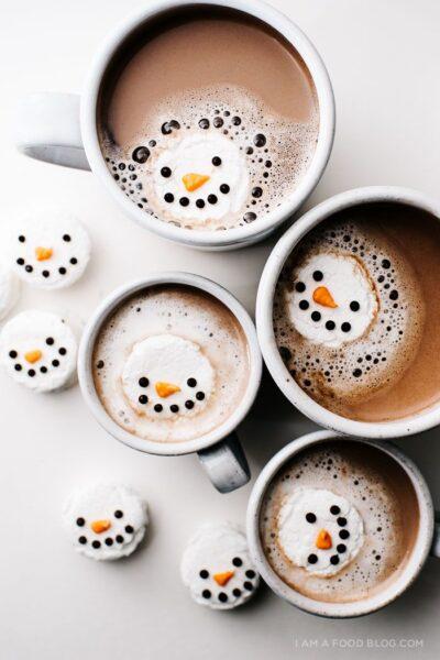 Mint Snowman Marshmallows - by I Am A Food Blog