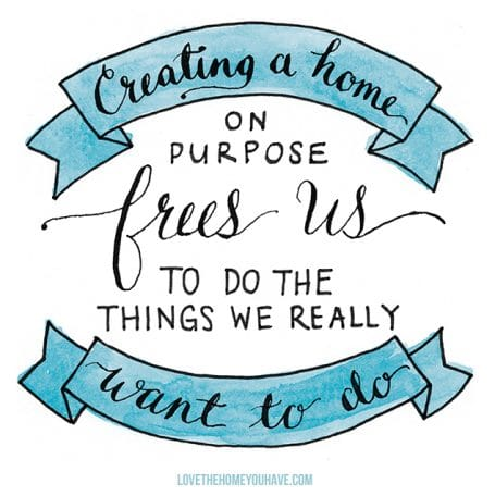 Creating a Home on Purpose - Love the Home You Have