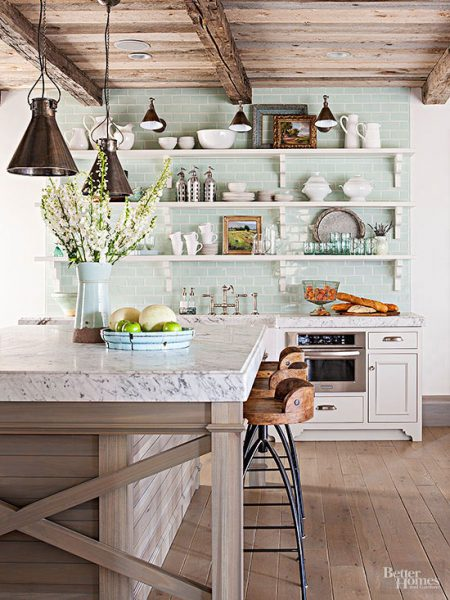 Rustic Wood Ceiling Kitchen - BHG